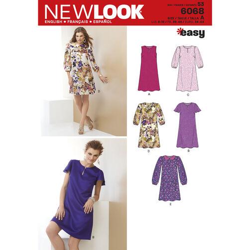 New Look Pattern 6068 Misses' Dresses