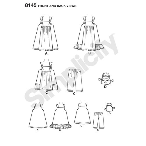 Simplicity Pattern 8145 Child's Pattern from Ruby Jean's