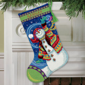 Happy Snowman Stocking, Needlepoint_71-09143