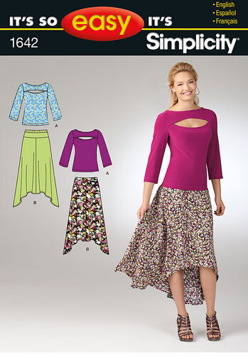 It's So Easy Misses' Skirt and Knit Top