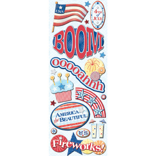 4th of July Adhesive Chipboard_566903