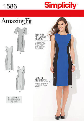 Misses' and Plus Size Amazing Fit Dress