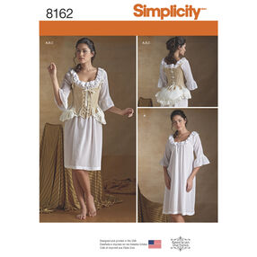 Simplicity Pattern 8162 Misses' 18th Century Undergarments