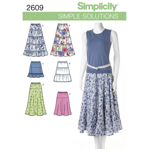 Simplicity Pattern 2609 Misses' Skirts