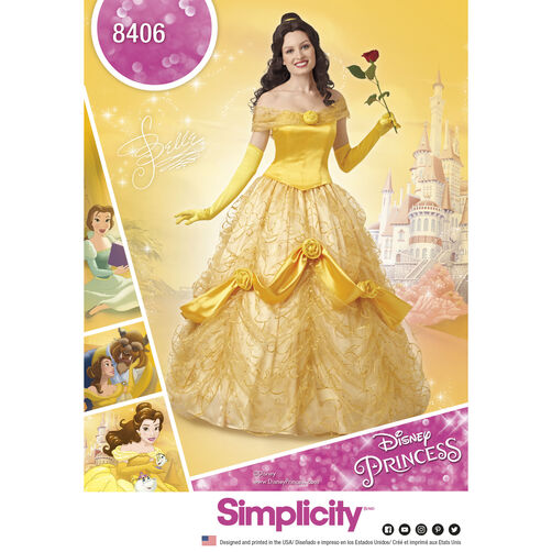 Simplicity Pattern 8406 Disney Beauty and the Beast Costume for Misses