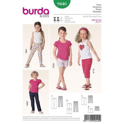 Burda Style Pattern 9440 Toddlers