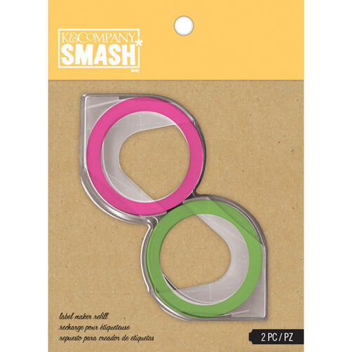 K&Company SMASH Label Maker Refill, Green and Pink_30-672741
