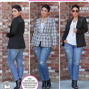 Misses' Lined Jacket Mimi G Collection
