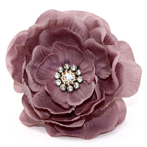 Dusty Pink Layered Pin & Clip Flower_56-63016