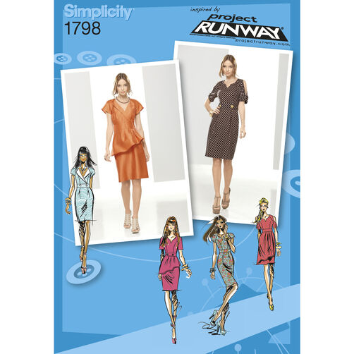 Simplicity Pattern 1798 Misses' Dresses Project Runway Collection