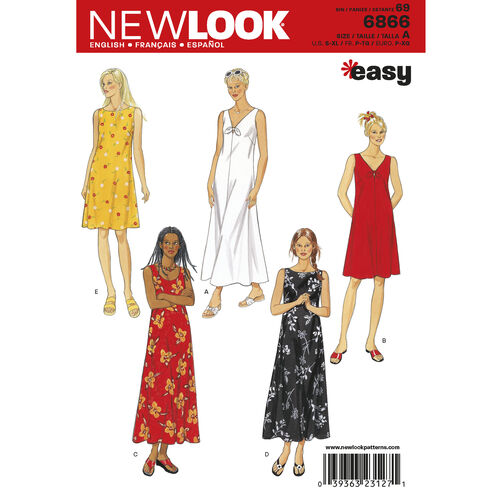 New Look Pattern 6866 Misses Dresses