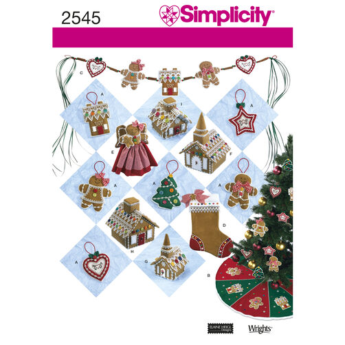 Simplicity Pattern 2545 Holiday Crafts