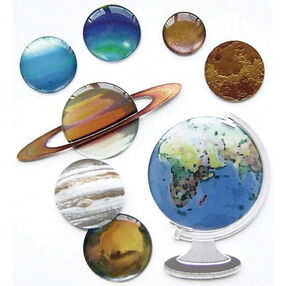 The Globe and Planets Stickers_SPJB710