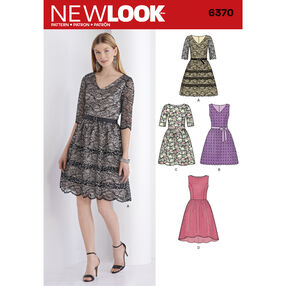 New Look Pattern 6370 Misses' Dress with Bodice Variations