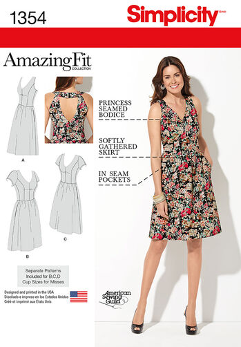 Misses' & Plus Size Amazing Fit Dress
