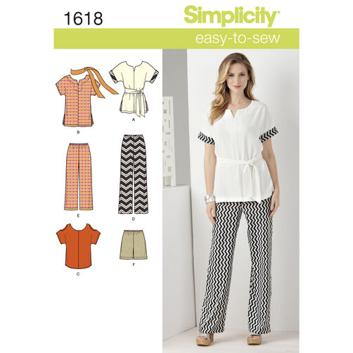 Simplicity Pattern 1618 Misses' & Plus Size Easy Separates