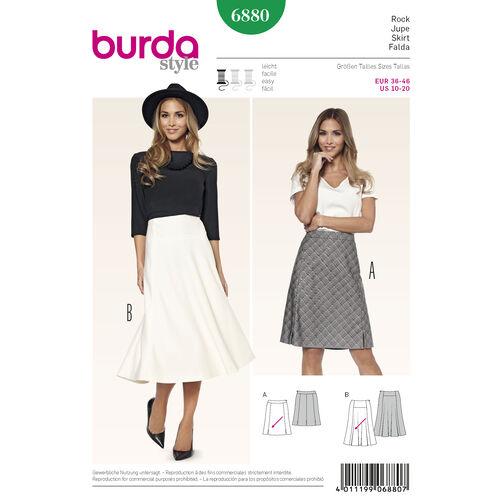 Burda Style Pattern 6880 Skirts