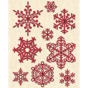 Yuletide Glitter and Gem Snowflake Stickers_30-579477