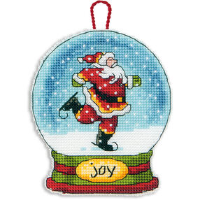 Joy Snow Globe Ornament in Counted Cross Stitch_70-08905