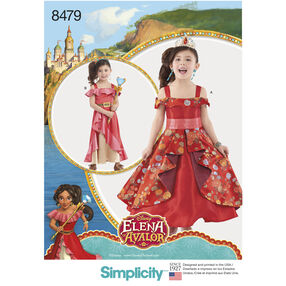 Simplicity Pattern 8479 Disney Elena of Avalor Child's Costume