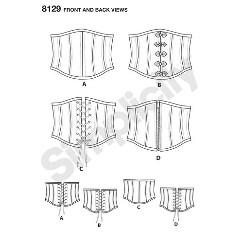 Easy Laced Up Waist Cincher Corsets Andrea Schewe Sewing ...