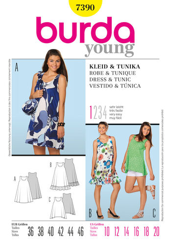 Burda Style Pattern 7390 Dress & Tunic