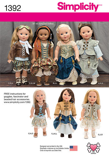 """Steampunk Costume for 18"""" Doll"""