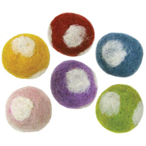 Felt Polka Dot Balls_72-73834