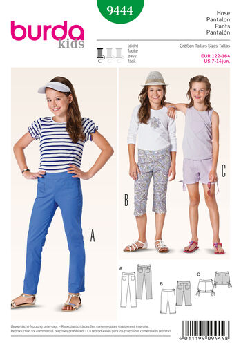 Burda Style Pattern 9444 Children
