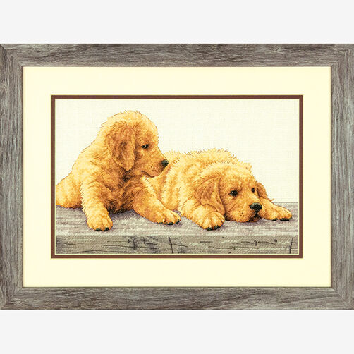 Golden Retriever Puppies in Counted Cross Stitch_70-35309