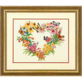 Wildflower Wreath, Counted Cross Stitch_70-35336