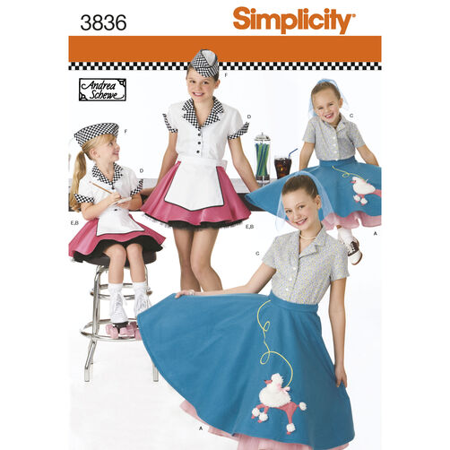 Simplicity Pattern 3836 Child's & Girls' Costumes