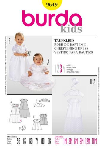 Burda Style Pattern 9649 Christening Dress