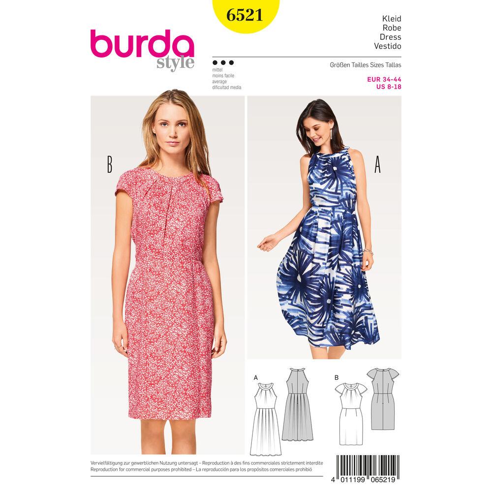 Burda Style Pattern B6521 Misses Dress With Sleeves