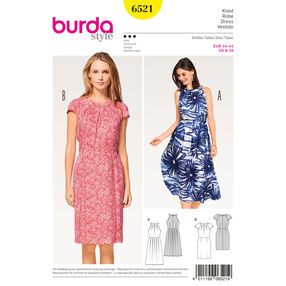 Burda Style Pattern B6521 Misses' Dress with Sleeves