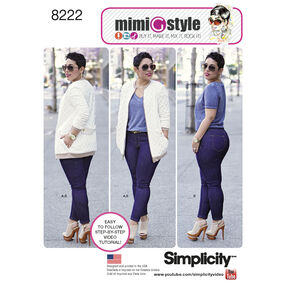Simplicity Pattern 8222 Mimi G Bomber Jacket and Stretch Skinny Jeans
