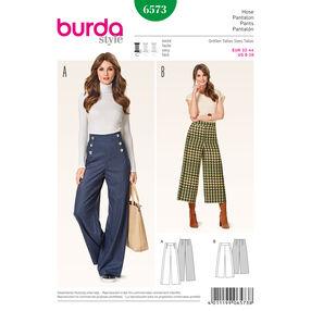 Burda Style Pattern 6573 Pants