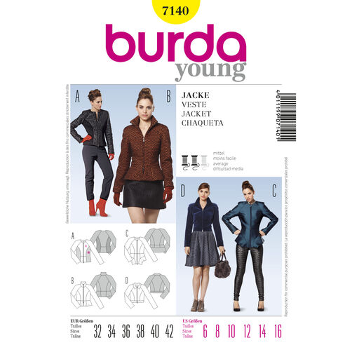 Burda Style Pattern 7140 Jacket