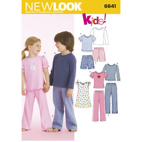 New Look Pattern 6641 Child's Sleepwear