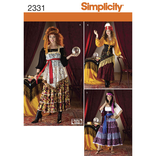 Simplicity Pattern 2331 Misses' Costumes