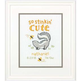 Stinkin' Cute Birth Record, Counted Cross Stitch_70-74828