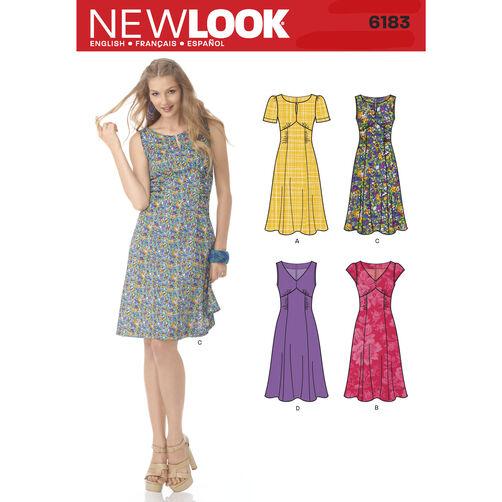 New Look Pattern 6183 Misses' Retro Style Dress