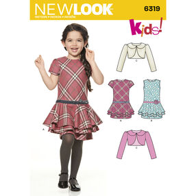 New Look Pattern 6319 Child's Jacket and Bias Dress