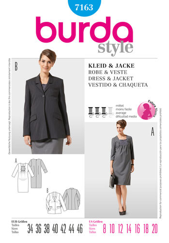 Burda Style Pattern 7163 Dress & Jacket