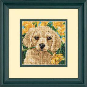 Puppy Mischief, Needlepoint_07231