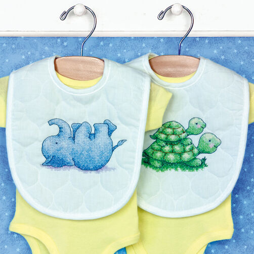 Little Pond Bibs, Stamped Cross Stitch_70-73698