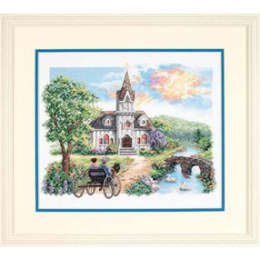 Country Church, Stamped Cross Stitch_03227