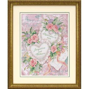 Two Hearts United Wedding Record, Stamped Cross Stitch_03217