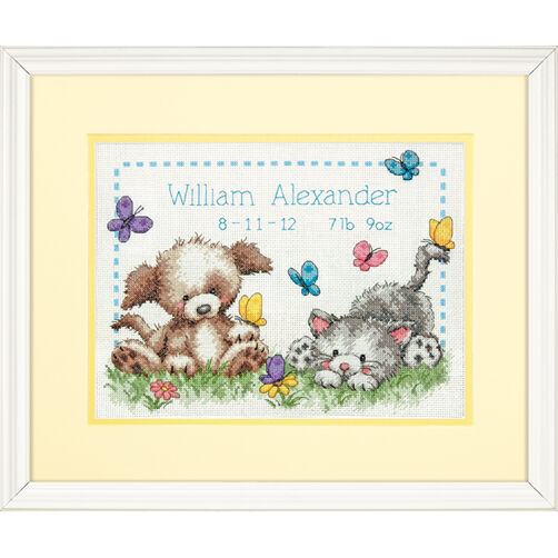 Pet Friends Birth Record Counted Cross Stitch_70-73883