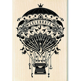 Mindscape Hot Air Balloon Wood Stamp_60-01055